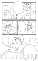 College EXE page 3 lineart by jojostory