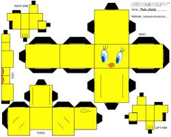 tweety cubeecraft by melopruppo
