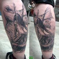 Dark Fairy Tattoo by DallierTattoo