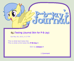 Commission - Journal Skin for P-B-Jay by asayyu