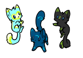 More Cats adoptables: CLOSED by XxSilverWebAdoptsxX