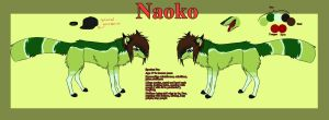 Naoko Reference sheet. by SodaButtles