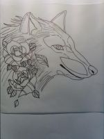 wolfhead outlines by flyingInk