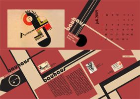 bauhaus calendar by tienTOON