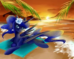 Luna summer break by Moeru789
