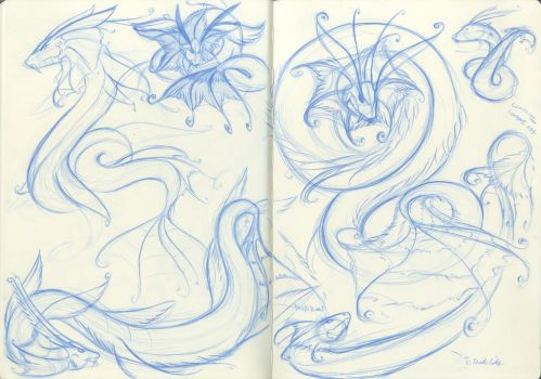 sea serpent concepts and ideas by BlueSpirit12