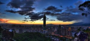 Taipei Evening by pacmangeek