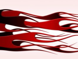 flames - red weave on white by jbensch