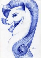 Rarity (Ballpoint pen) by DragonaDeAcero