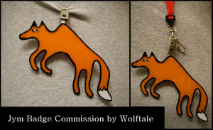 Jym Plastic Badge Commission by Wolftale