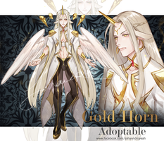[CLOSED] Gold Horn - Adoptable by JOHANNDRO