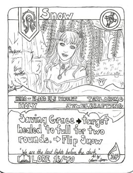 Snow Lore Card Inked by Auraine2