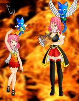 Nashi Dragneel and Layla by maahvictal