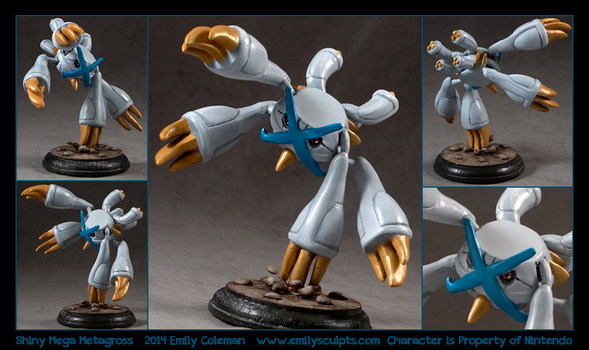 Commission : Shiny Mega Metagross by emilySculpts
