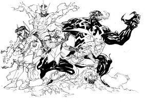 Marvel villains vs DC villains - D'n'D May17th2013 by SpiderGuile