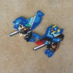 Chrom and Lucina - FE:A Perler Bead Sprites by MaddogsCreations