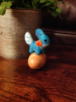 Mudkip Needle Felt by the-pink-dragon