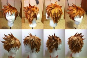 Roxas Wig from Kingdom Hearts by taiyowigs