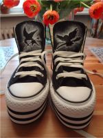 District 12 + 'District 9 3/4' Platform Converse by ivy11