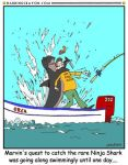 Shark Week Cartoon No. 13 by Conservatoons