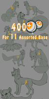 11 Assorted Base Pack PSD file. by VengefulSpirits