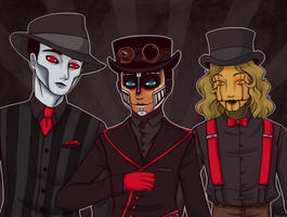 Steam Powered Giraffe by Lunasumerin
