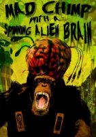 Spinning Alien Brain by kenfreelance