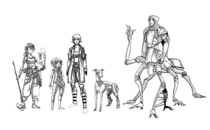 Character designs by ssandulak