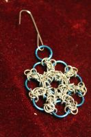 Chainmaille Snowflake Ornament by medievalfaery