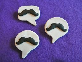 We Say Mustache Pins by stefania-zee