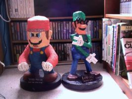 Paper Mache Luigi pic 5 of 5 by TwistedMethodDan