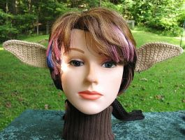 Crocheted Elf Ears by merigreenleaf