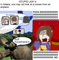 Stupid Laws: Part 4- Moose by ask-NewYorkHetalia