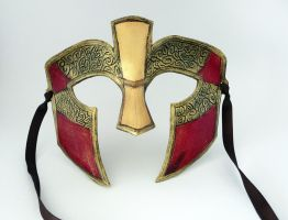 Spartan Leather Mask 2 by leighanief