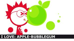i love: apple-bubblegum by dheny
