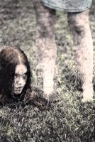 Head in the Grass (hand-colored) by fakesnowcan