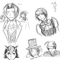 Ace Attorney Doodles by Shiiwolf
