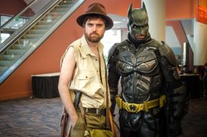Indiana Jones and Batman by The-Prez