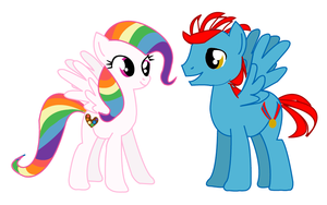 Rainbow Dash's parents by LottaPotatoSalad