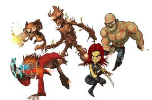 Guardians of the galaxy by hanzthebox
