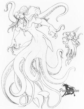 .Squid Merman. by Peanuttie