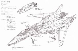 ASX-02 and ASX-03 in Variable Fighter Mode WIP by Cefiros