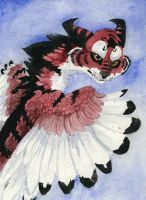 October Watercolor Experiment by InvaderTigerstar