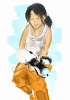 Chell by Mul
