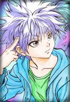 Killua 1999 : Traditional Art 2 by PrinceKurapika