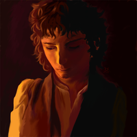 Frodo at Bag End by komadori