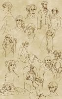Gabriel and Julia Sketches by Terrizae