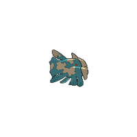 male #369 from Pokemon Shiny Relicanth back and