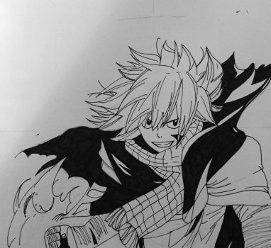 Natsu after 1 year timeskip.  by dakotaaaaaa-chan