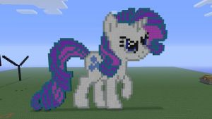 MLP Rarity (mean look) in Minecraft by o0rolyat0o